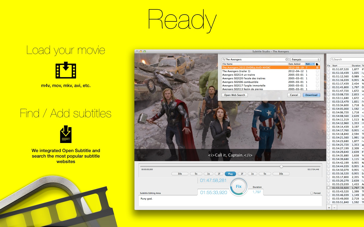 Download subtitles from youtube, facebook, viki, dailymotion & more.
